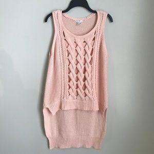 cd9fe2ef5a3 VENUS Sweaters - Venus Pink Cut Out Detail Sleeveless Hi Lo Sweater